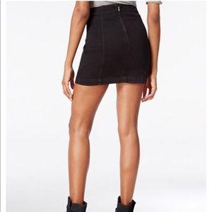 0f02b2bf4c Free People Skirts - Free People Modern Femme Black Denim Mini Skirt